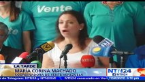María Corina Machado apoya informe de la OEA sobre Venezuela y respalda aplicación de Carta Democrática