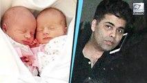 Karan Johar Meets Surrogate Twins At Hospital