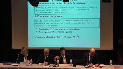 Conférence : L'enquête locale de climat scolaire, un levier au service  de la réussite des élèves
