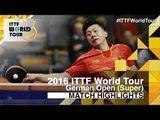 German Open 2016 Highlights: MA Long vs NIWA Koki (R16)