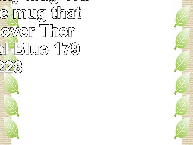 Dexam Mighty Mug Travel Mug the mug that wont fall over Thermos in Teal Blue 17920228