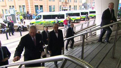 Charles visits King's College Hospital following attack