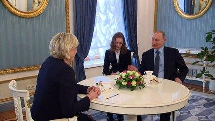 Vladimir Putin hosts Marine Le Pen in Moscow