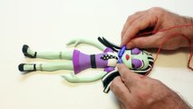 ♥ Play Doh Monster High STOP-MOTION New Year Tree Animation Plasticine Creation and Toys S