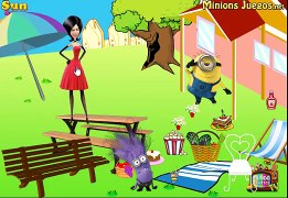 Peppa Pig and Minions paper stop motion Lets go picnic