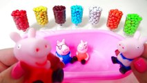 Learn Colors Baby Doll Bath Time M&Ms Chocolate Peppa Pig Learn Colours Toys