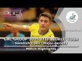 Swedish Open 2015 Highlights: KARLSSON Kristian vs LUNDQVIST Jens (1/4)