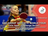 2015 Chile Open Highlights: ARGUELLES Camila vs RUANO Lady (1/8)