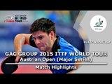 Austrian Open 2015 Highlights: OVTCHAROV Dimitrij vs FILUS Ruwen (1/4)