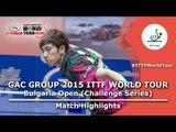 Bulgaria Open 2015 Highlights: KIM Donghyun vs GOLOVANOV Stanislav (R 16)