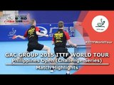 Philippines Open 2015 Highlights: DEVOS Robin/NUYTINCK Cedric vs KORIYAMA Hokuto/TAZOE Kenta (FINAL)