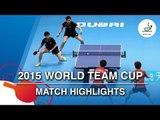 2015 World Team Cup Highlights: KIM Donghyun/ Sangeun vs HUANG Sheng-Sheng /CHIANG Hung-Chiehn (1/4)