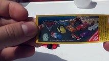 3 Disney Pixar Cars 2 Lightning Mcqueen Surprise Eggs Unboxing Toys | SurpriseEggsChannel!