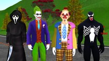 Spiderman Frozen Elsa SpiderGirl Hulk Vs Killer Clown Joker Prank Scary Ghost Scream Fun S
