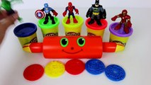 Learn Colors with Marvel Superheroes Toys Surprises Play Doh Eggs Spiderman The Hulk Iron