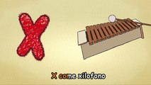 learning italian language for toddlers - The letter X song in italian - songs for kids to