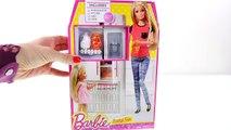 Barbies Shopkins Fridge Fun Barbie Doll Kitchen with Shopkins Fruits & Vegetables Barbie