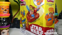 STARWARS PLAY DOH Can Heads Luke Skywalker and R2D2 robot - start wars spaceship toys