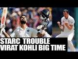 India vs Australia:  Mitchell Starc will trouble Kohli in the series, says Hussey   Oneindia News