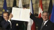 """Líderes europeus assinam """"Declaração de Roma"""", que renova compromisso europeu. Siga a cerimónia em direto na euronews"""