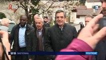 François Fillon visé par des jets d'oeufs lors d'une visite au Pays Basque