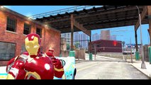 Nursery Rhymes for Kids w Iron Man Iron Patriot Mickey Mouse and Spiderman vs Lightning Mc