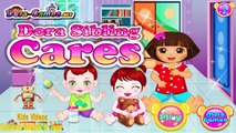 Dora The Explorer - Dora Sibling Care - Fun time Games Episodes for Girls and kids [HD]