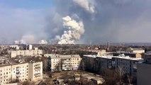 Explosions dans un dépôt d'armes et de munitions en Ukraine !