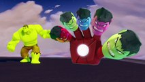 Superhero Hulk Play-Doh Bottles Finger Family Nursery Rhymes Learn Colors Modelling Clay F