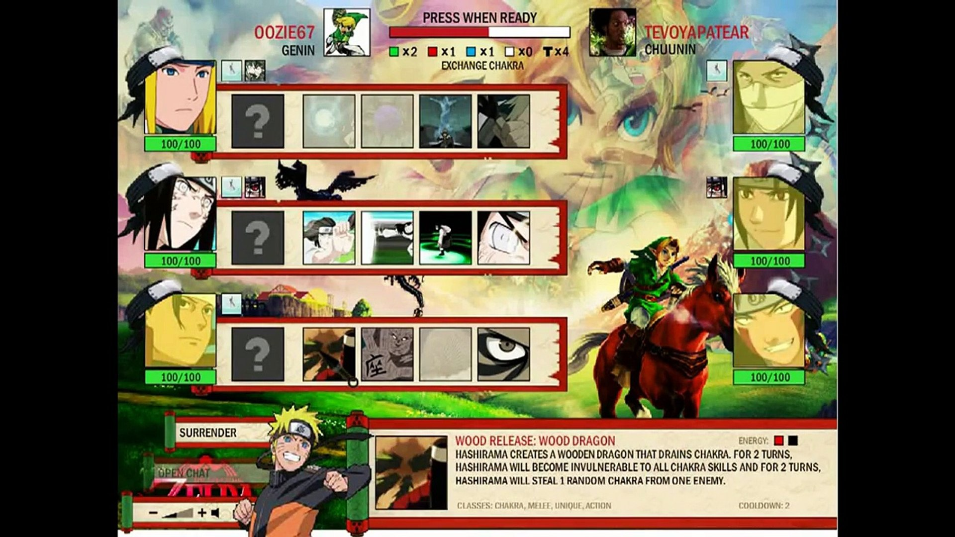 Naruto Arena Streak Team 1/29/16