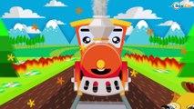 Trains Cartoons for kids - Train and Car Wash. Cars & Trucks Cartoon for Children