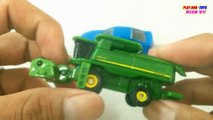 TOMICA CARS Ford Mustang GTV8 John Deere Combine 9670STS Kids Cars Toys Videos HD Collecti
