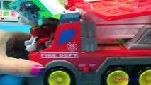 New Learners Fire Department Fireman rescues Elsa from a burning house - Firetruck fire en