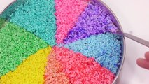 DIY How To Make Colors Rice Cocktail Learn Colors Glitter Slime Clay Toy - Kids Songs Nurs