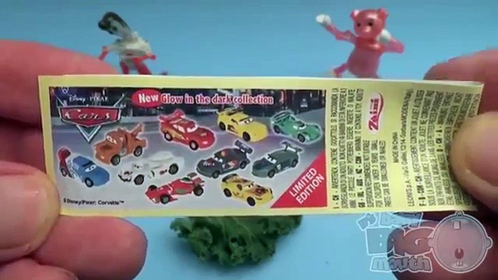 Дисней легковые автомобили и дисней Минни мышь сюрприз яйцо Написание овощи Learn-A-слово для Дети