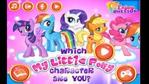 Which My Little Pony Character Are You - Little Pony Game For Kids