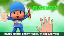 Pocoyo Finger Family Song | Pato, Elly, Loula & Sleepy in Gumball Machine | KIDS RHYME BOX