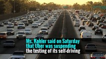 After the California Department of Motor Vehicles revoked the registrations for Uber's self-driving cars, the company took