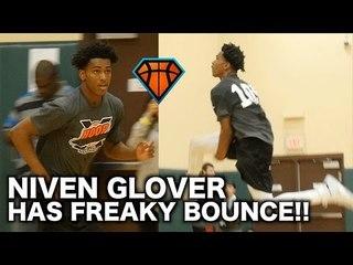 Sophomore Niven Glover Has FREAKY Bounce!! | HoopExchange Spring Showcase Highlights