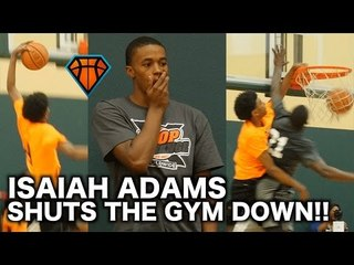 Freshman Isaiah Adams SHUTS THE GYM DOWN With a NASTY Poster At the HoopExchange Spring Showcase!!