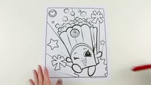 SHOPKINS Coloring Book Poppy Corn Speed Coloring With ...