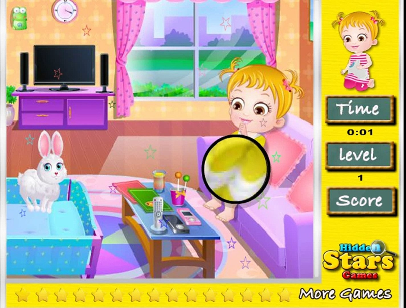 baby hazel hidden star game play fo kids , super game for kids , nice game for childrens