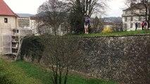 Besançon : des fondus de Highline en équilibre sur un fil