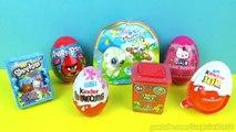 7 Surprise Eggs Yoohoo and Friends Shopkins Angry Birds Kindr Eggs ביצת קינדר ביצת הפתעה-1