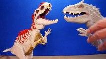 Jurassic World INDOMINUS REX Toy Dinosaurs Hybrid Rampage & Armor I-REX Dinosaur Toys Review-D8bmp9EhL