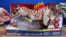 Jurassic World INDOMINUS REX Toy Dinosaurs Hybrid Rampage & Armor I-REX Dinosaur Toys Review-D8bmp9Eh