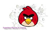 Angry Birds Compilation - Coloring Pages for children and kids | ECV TV
