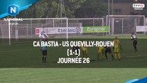 J26 CA Bastia - US Quevilly-Rouen (1-1), le résumé