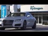 Audi A7 Sportback h-tron quattro repostando hidrógeno