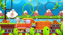 The Train - Trains & Trucks Cars cartoons for children | Learn colors for kids
